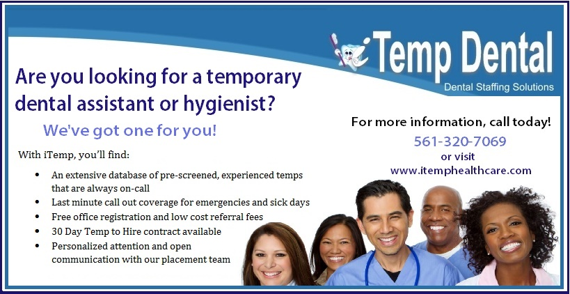 Need A Temporary Dental Assistant Itemp Healthcare